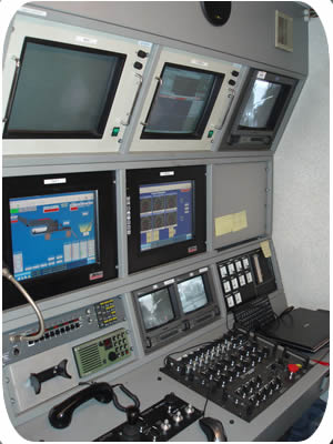 Subtrench Two Trenching Machine  Control Console. Click to go back.