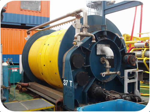 Subtrench Two Trenching Machine: Supply Umbilical Reel. Click to go back.