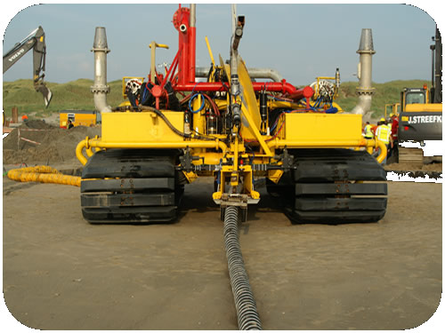 Cable trenching st with mm od power loaded
