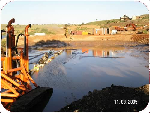 Trenching: Test Dam and Full Scale Testing. Click to go back.